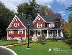 Magnifique maison de campagne conçu par l'équipe Dessins Drummond, agence Drummondville