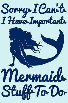 Important Mermaid Stuff Art Print