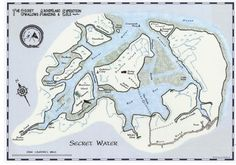 Swallows and Amazons Secret Water Map