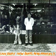 Ian Dury, New Boots & Panties'. This 1977 album marked the beginning of the new wave, for me. Featuring classics such as 'Sex & Drugs & Rock & Roll', I still listen to it. Lp Vinyl, Vinyl Records, Baxter Dury, Rock And Roll, Iconic Album Covers, Pochette Album, Lp Cover, Cover Art, Vinyl Cover