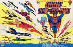 Superboy and the Legion of Super-Heroes Limited Collector's Edition C49 cover art by Mike Grell