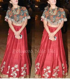 Jayanti reddy # Jacqueline # cape look # cropped look # lehenga