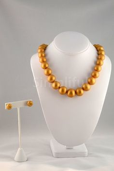 Terracotta Pearl textured Necklace and Earring set