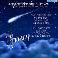 BIRTHDAY IN HEAVEN-GRANNY