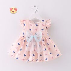 Adorable Lace Bow Tie Mini A-Line Dresses, Varied Styles - Everything For Your Baby Girl Frocks For Girls, Little Girl Outfits, Little Girl Dresses, Kids Outfits, Girls Dresses, Baby Girl Fashion, Kids Fashion, Pregnancy Fashion Winter, Kids Robes