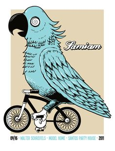 Vector Illustration - Samiam 3 color silkscreen poster. Sold out.