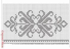 Hobilerim ve ben: 2019 Free Cross Stitch Charts, Filet Crochet Charts, Crochet Motifs, Cross Stitch Art, Beaded Cross Stitch, Cross Stitch Borders, Knitting Charts, Cross Stitch Flowers, Cross Stitch Designs