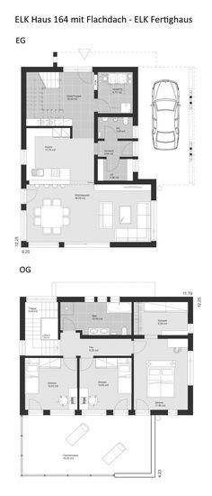 Grundriss Stadtvilla modern mit Walmdach Architektur - 4 Zimmer, 132