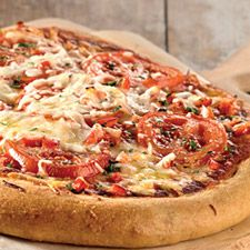 Pizza Crust -  This flavorful pizza crust is crisp when rolled ultra-thin, and chewy when made thick.