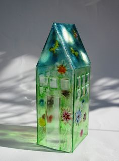 fused glass ..'The Greenhouse' by LiNdA RuTh WiLSoN ♥