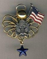 a784 Army Blue Star Mother\'s Angel Pin