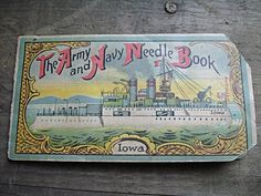 Army Navy Needle Book USS Iowa Vintage Sewing by RustyNailDesign