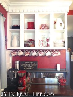 home coffee bar | ... PARTY - DIY Show Off ™ - DIY Decorating and Home Improvement Blog