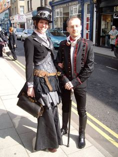 Clare and I @ Whitby Goth Weekend