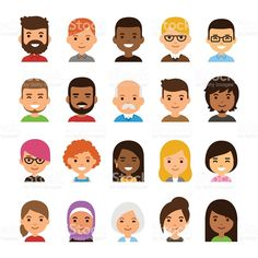 Find Avatar Set Isolated On White Background stock images in HD and millions of other royalty-free stock photos, illustrations and vectors in the Shutterstock collection. Family Illustration, Portrait Illustration, Character Illustration, Graphic Illustration, People Illustration, Cartoon People, Cartoon Faces, Cartoon Styles, Simple Cartoon