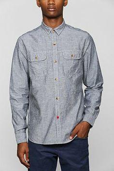 CPO Chambray Button-Down Work Shirt - Black