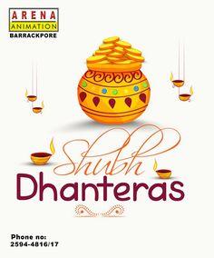 Arena Animation Barrackpore is wishing everyone Happy Dhanteras. Diwali Poster, Kali Puja, Diwali 2018, Diwali Festival Of Lights, Happy Dhanteras, Hanuman Wallpaper, Buddha Quote, Art N Craft, Wishes Images