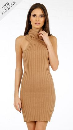 Rebecca Turtleneck Halter Dress