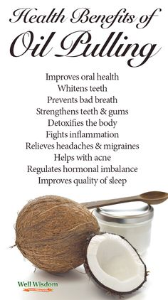 Oil pulling helps you whiten your teeth and detoxify your body, it can do wonders for your immune system as well. Check all amazing health benefits of #oilpulling!