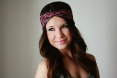 Lilac Floral - Twisted Turban Style Headband