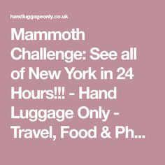 Mammoth Challenge: See all of New York in 24 Hours!!! - Hand Luggage Only - Travel, Food & Photography Blog