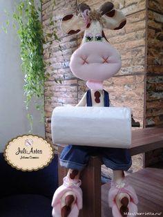 Текстильная игрушка БУРЕНКА - держатель туалетной бумаги (1) (525x700, 275Kb)