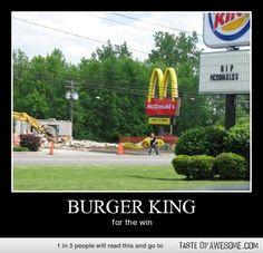 Look at the Burger King sign