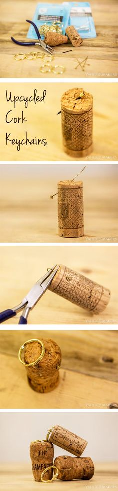 Remember your special celebrations and memories by saving your cork and creating a keychain you can carry with you always.