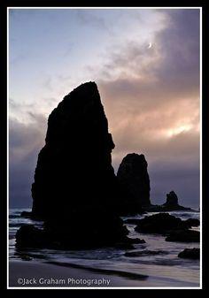 """Cannon Beach Moonrise"""", Oregon Coast"""