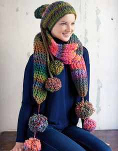 Catalogue Femme Accessoires 8 Automne / Hiver | 12a: Femme Bonnet | Vert-Bleu-Rosé-Orange