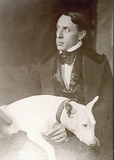 Poet Ralph Hodgson and Mooster, 1912