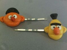 Bert and Ernie Hair Clips