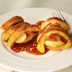 Apple Pie Spirals with Salted Caramel Sauce