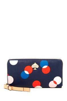 lacey polka dot wallet