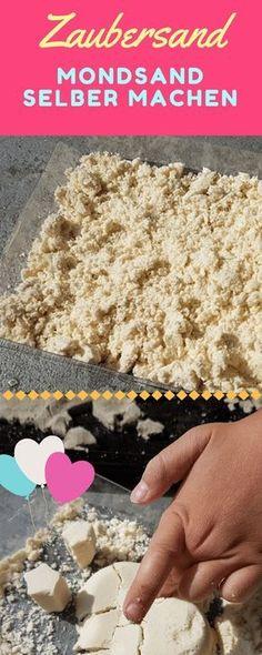 Mit diesem Rezept kannst du in unter 10 Minuten selbstgemachten Mondsand herstellen. Zaubersand ist eine günstige Alternative zu Kinetic Sand.