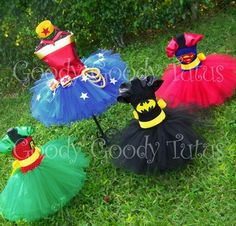 Make the robin one for dega and let bristol be batman or bristol as superman and dega as wonder woman Girl Superhero Costumes, Superhero Party, Girl Costumes, Costume Ideas, Family Costumes, Superhero Dress, Costumes Kids, Superhero Cosplay, Group Costumes