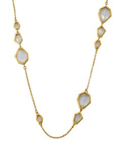 This Cubic Zirconia & Gold Faceted Accent Necklace by Riccova is perfect! #zulilyfinds