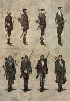 Concept Art for The Witcher 2: Elves