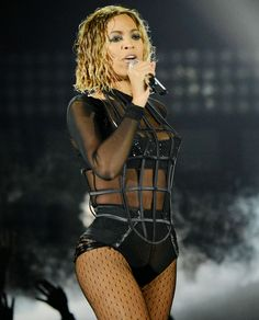 Beyonce wears the Black Label Onyx Tuxedo #british #designer #lingerie #architecture #nicholedecarle #luxury #fashion #onyx #readytowear #silk #lace #plunge #bra #structure #highwaisted #tuxedo #sheer #beyonce