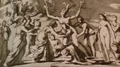 THE BIRTH OF ADONIS. suggested date : 1623. pen grey ink and wash on paper. 18,3 × 32,5 cm. Windsor Castle. The Royal Library. Inv. No. 11 933. Nicolas Poussin, Windsor Castle, Birth, Roman, Ink, Grey, Paper, Painting, Gray