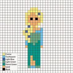 Frozen's Elsa in power dress option 2 - Perler Mania Pattern