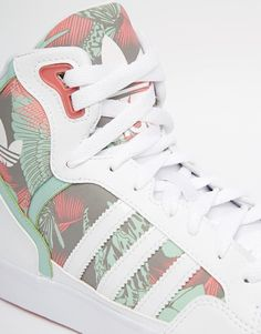 d3470e767c7c0 Image 2 of adidas Originals Extaball White   Green High Top Sneakers Adidas  Outfit, Adidas