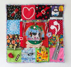 Nesteldecke Adult Crafts, Baby Crafts, Crafts To Make, Crafts For Kids, Crafts For Seniors, Senior Crafts, Alzheimers Activities, Sensory Blanket, Fidget Blankets