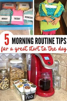 Stop the chaos! These 5 school morning routine tips and tricks will help busy moms get kids out the door and off to school easily. #backtoschool #motherhoodtips #routines #kidroutines #schoolroutines #morningroutine Organization Hacks, Organizing, Single Mom Tips, Working Mom Tips, Really Good Stuff, School Routines, Raising Kids, Clutter, Food Hacks