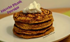 ✔️ Kabocha Squash Pancakes  1/4c (28g) almond flour 1/2c (85g) kabocha squash, baked (flesh only) 3 large egg whites 1/2 tsp baking powder 1 tsp ground cinnamon (add more or less to taste) 1 tbs pure maple syrup, optional