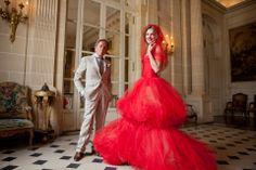 Valentino Red Natalia Vodianova #Fashion