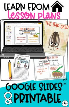 The Bad Seed book companion lesson plans in print or digital format that are perfect for blended or hybrid learning as you meet the reading standards for 3rd and 4th grade.