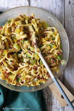 Spätzle-Lauch-Salat Salad Dressing Recipes, Salad Recipes, Kalbi Short Ribs, Fat Loss Diet, Healthy Diet Plans, Group Meals, Party Snacks, Pepperoni, Meals