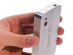 PURE Handy Facelift Pure ist ein individualisiertes, hochwertiges aus Aluminium gefrästes Facelift für Smartphones. Aus zwei Aluminiumblöcken wird eine zweischalige Hülle, nach dem Prinzip einer Hülle für Kartenspiele, gefräst. Die Toleranz der Passung zwischen den beiden Hälften wurde so gewählt dass es möglich ist sein Smartphone jederzeit zu entnehmen, ist dennoch stark genug, um beim alltäglichem Umgang mit dem Smart zu verschmelzen.