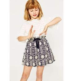 ZARA - KIDS - JACQUARD SKIRT